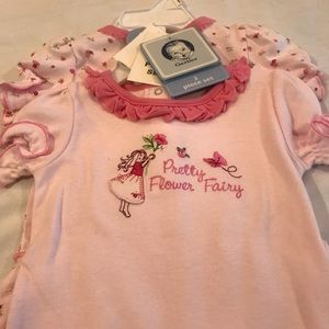 Geber 3-piece set pretty flower fairy top and pant